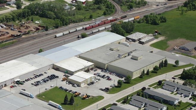 Aerial view of Lakeside Foods Manitowoc Distribution Center.