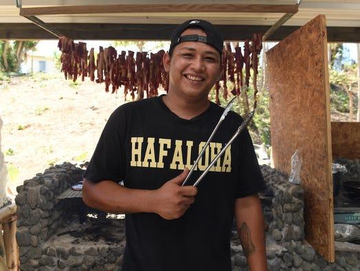 Joseph Perez of the Micronesian Chefs Association smiles