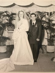 Ginnie and John Shoemaker were married in Los Angeles