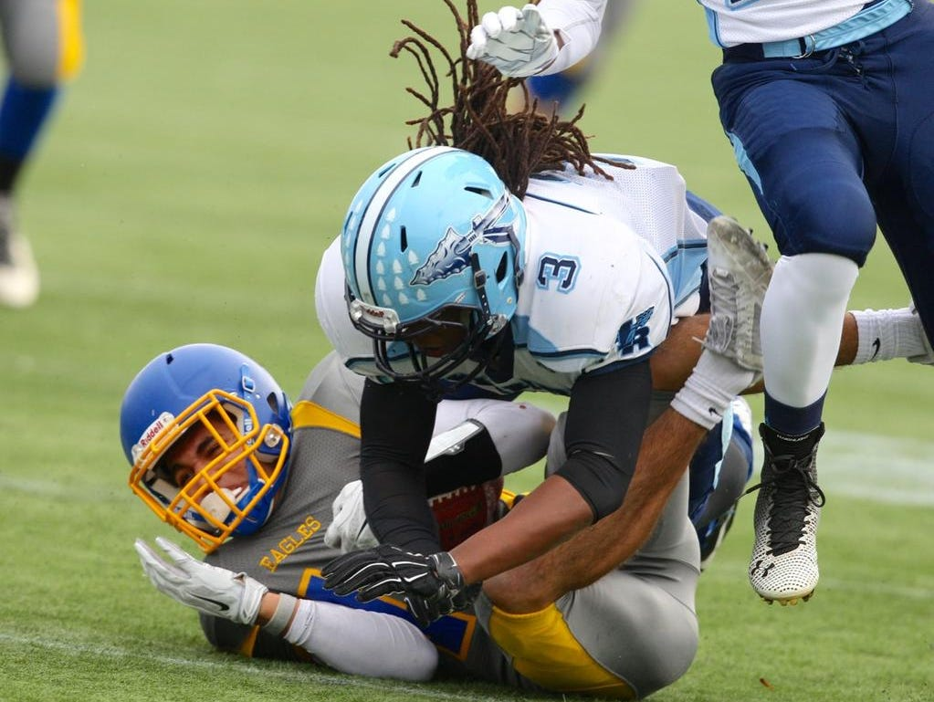 Action between Indian River and Irondequoit in the Class A state semifinals Sunday at Sahlen's Stadium.