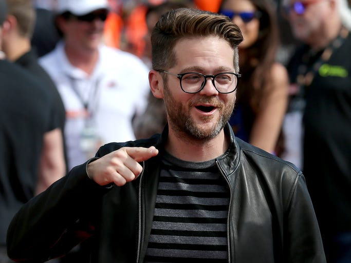 The Voice season 6 winner Josh Kaufman walks the red carpet before the start of the Indianapolis 500 at the Indianapolis Motor Speedway, Sunday, May 25, 2014, in Indianapolis.