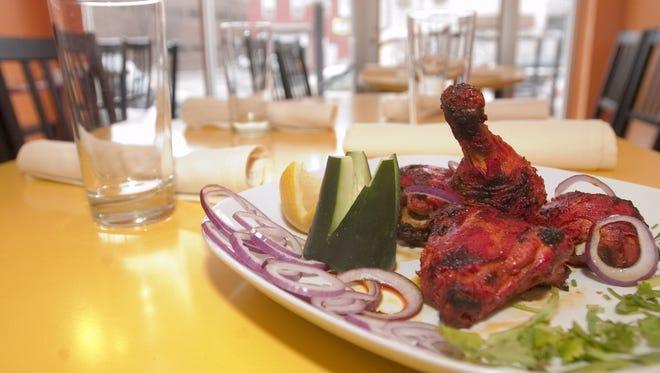Tandoori chicken at Tiffin.