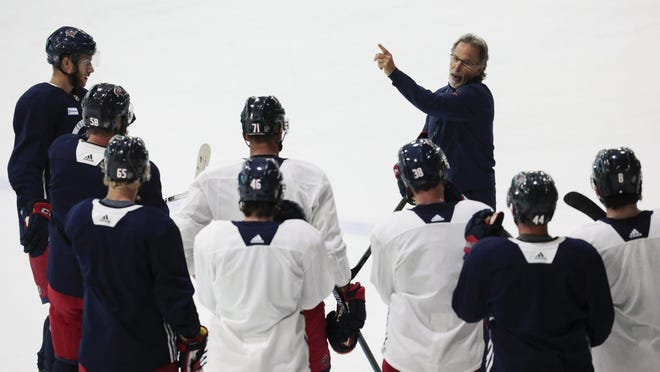 """Blue Jackets coach John Tortorella says """"there's not many things that you can control in the game. Conditioning is one."""""""