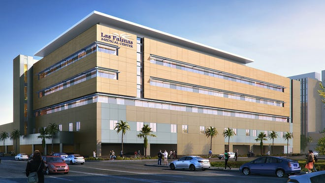 An artist's rendering of the addition atop Las Palmas Medical Center's emergency department building across from its main building at 1801 N. Oregon St.