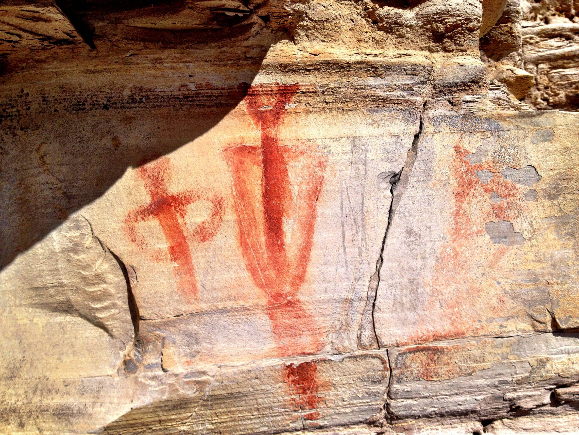 Pictographs at Bear Gulch Pictographs near Lewistown.