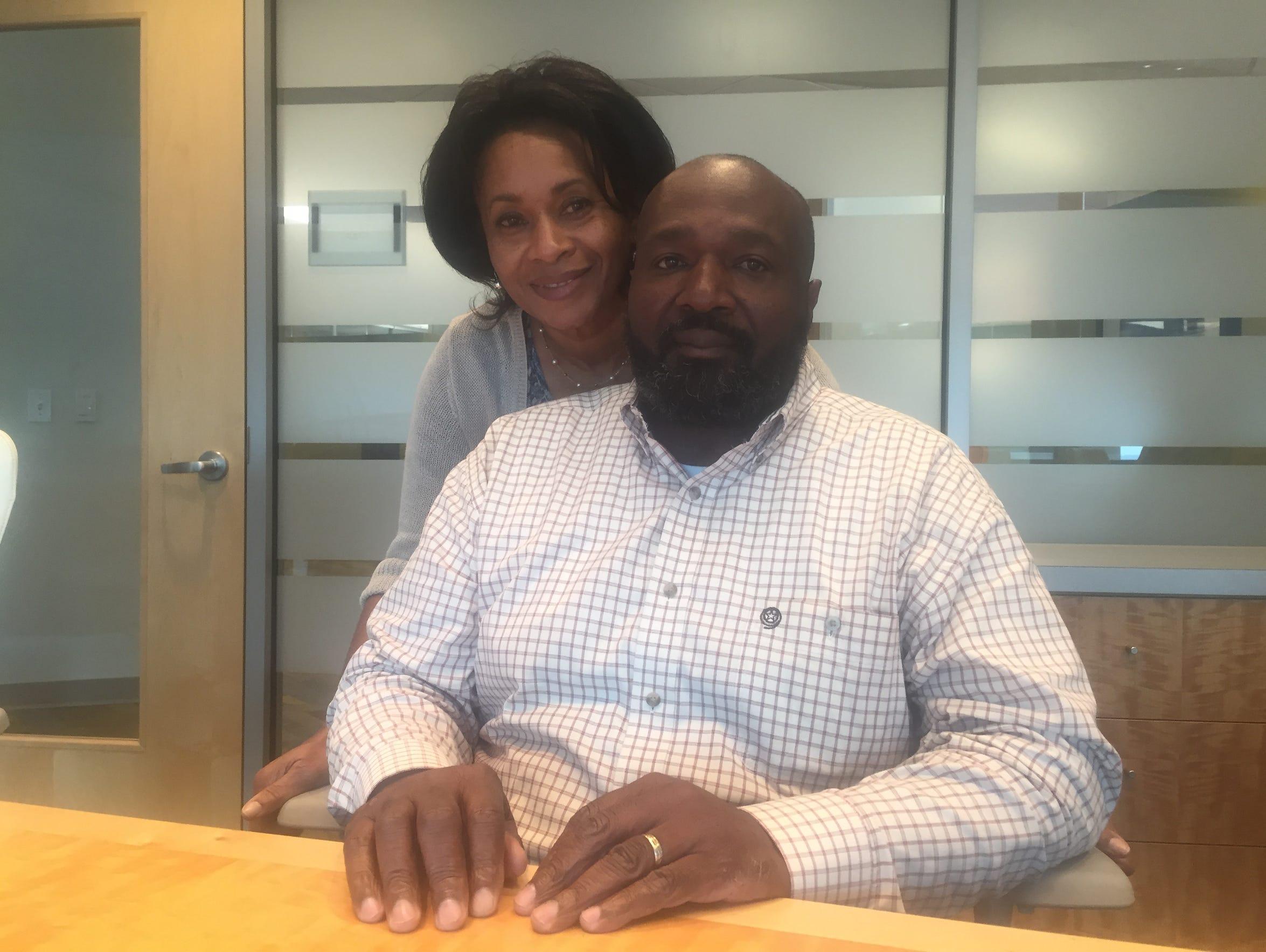 Bill Strickland, 56, a colon cancer survivor, stands