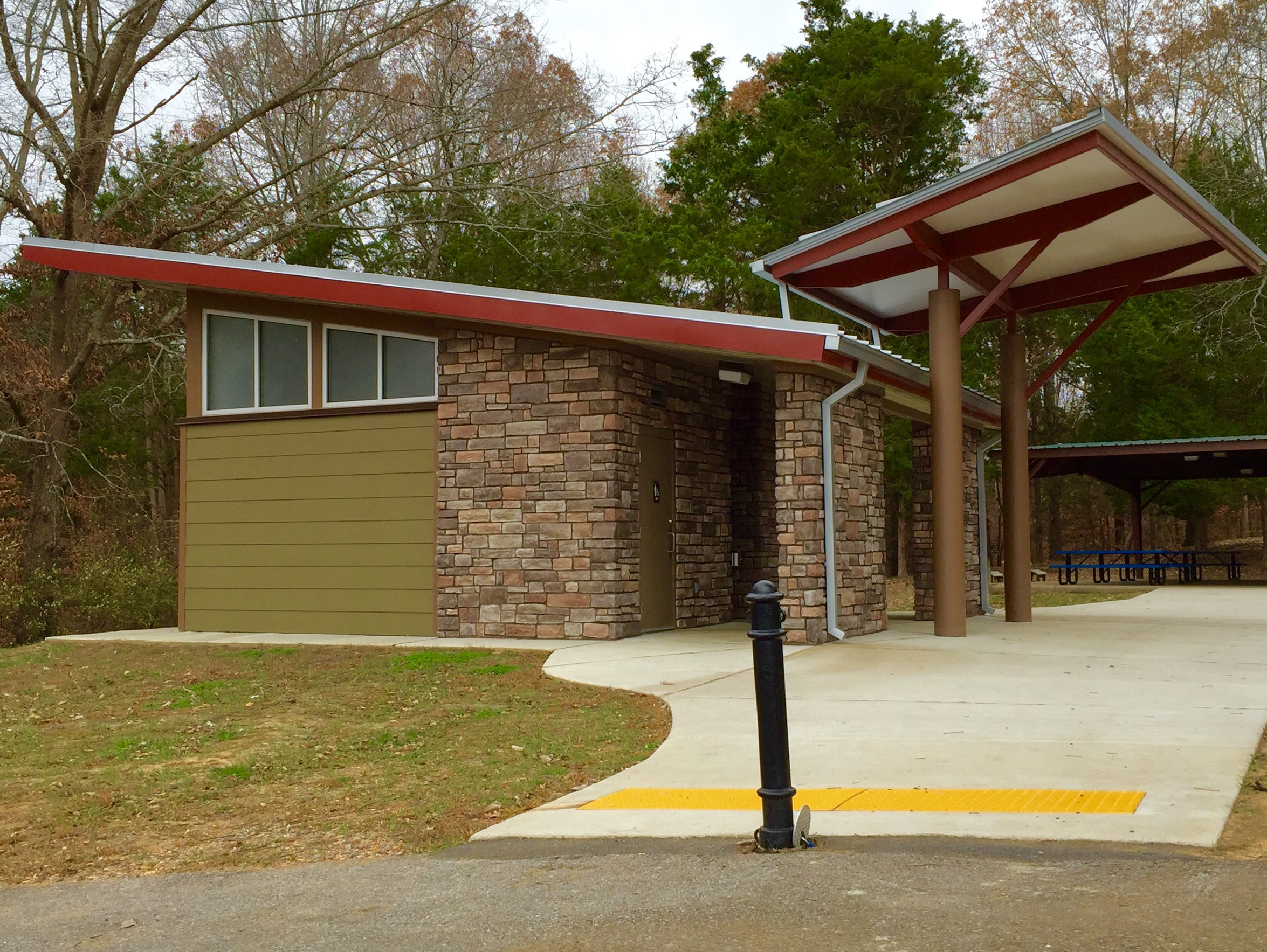The new comfort station at Rotary Park.