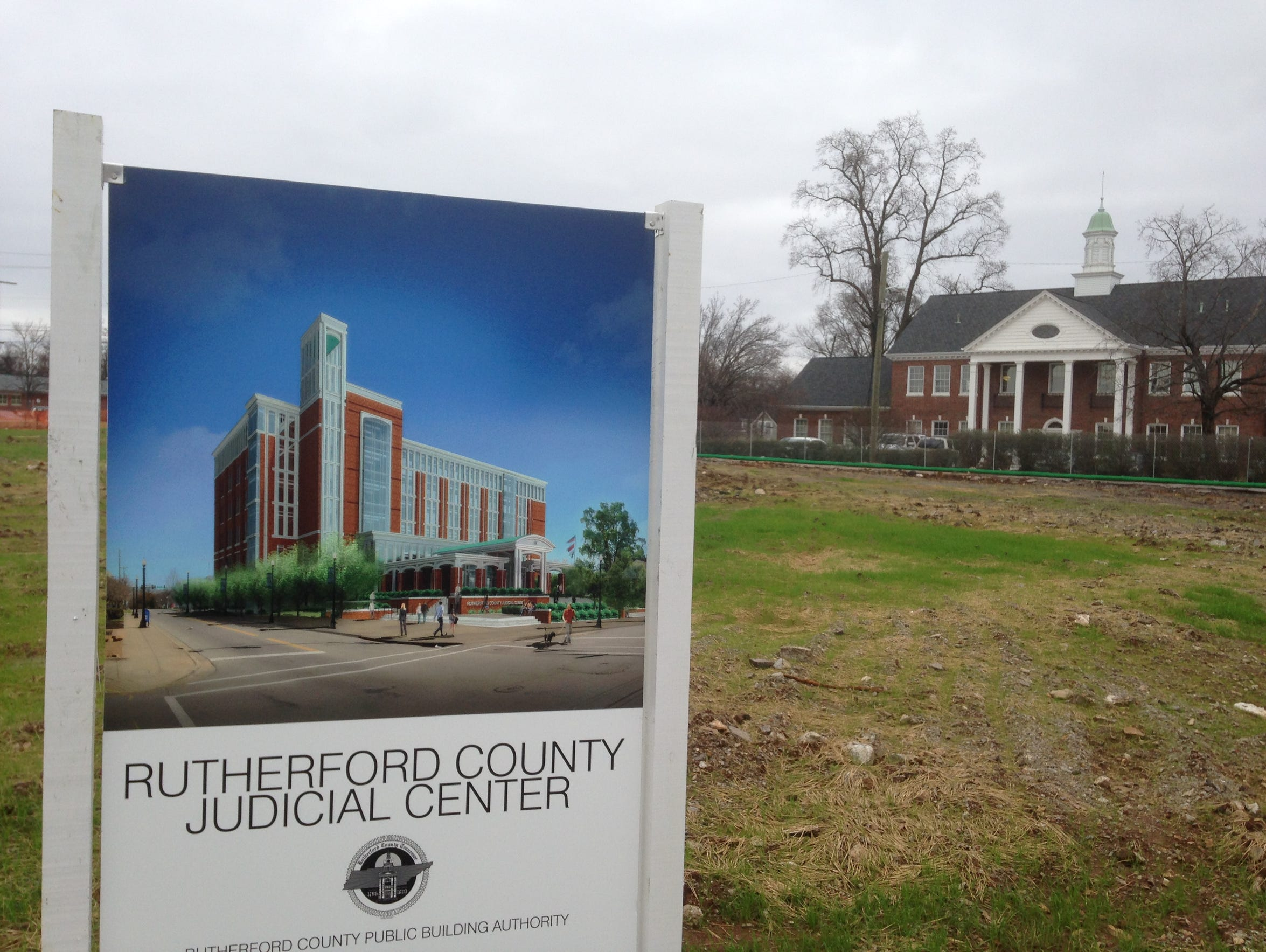 This Rutherford County Judicial Center sign shows a