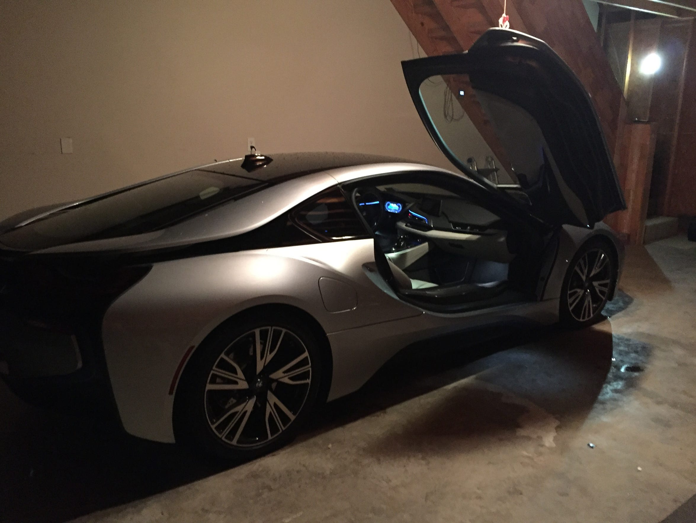 Travis DeYoung snapped this picture of a BMW I8, after