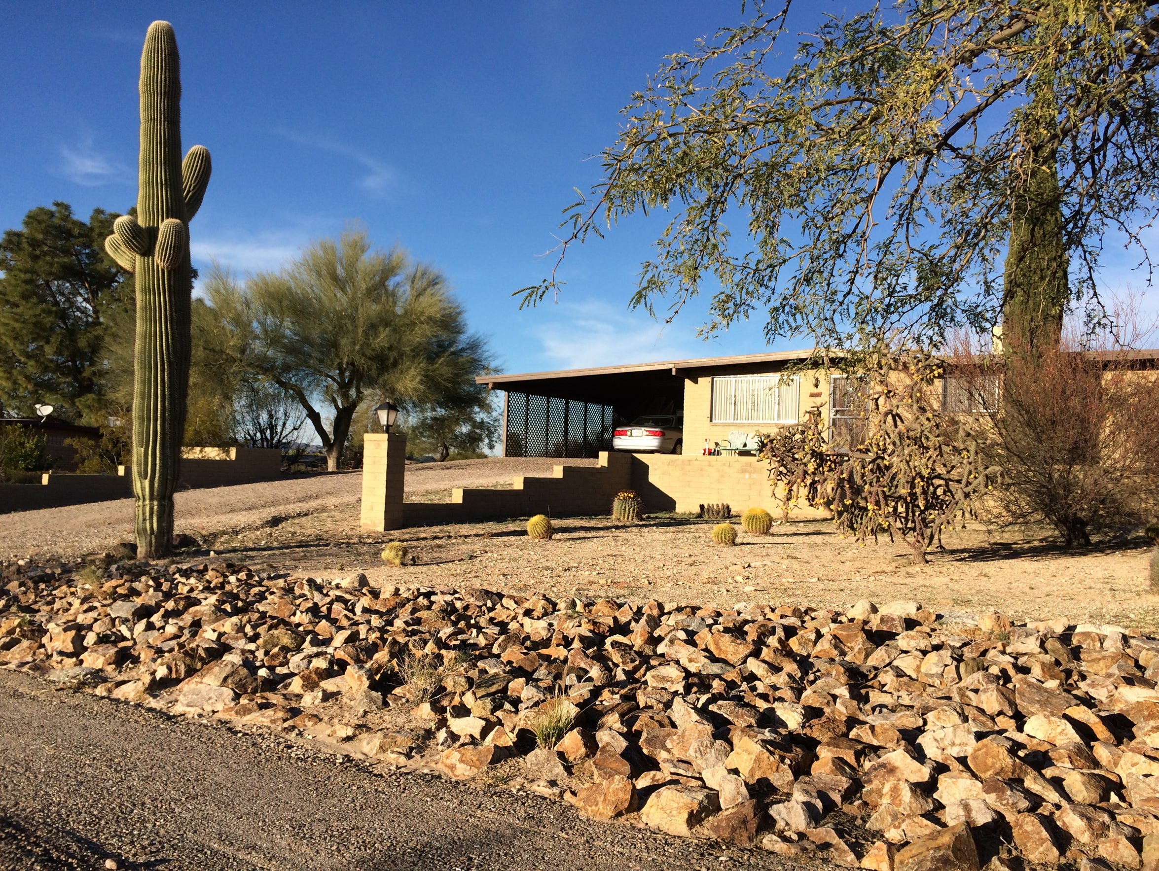 The Tucson home where U.S. Rep. Kyrsten Sinema lived