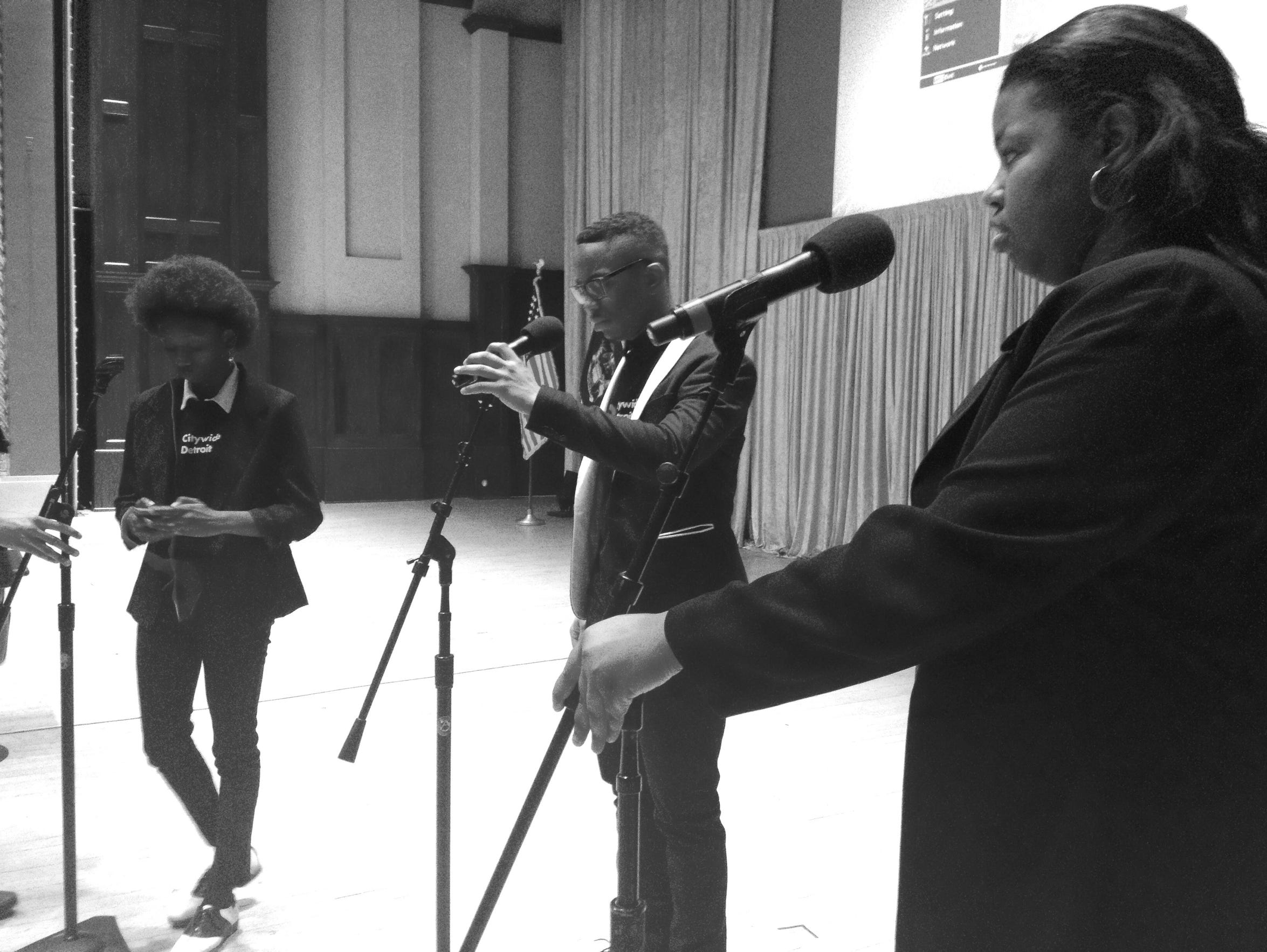 Citywide Poet's Arzelia Williams is joined by Kennedie