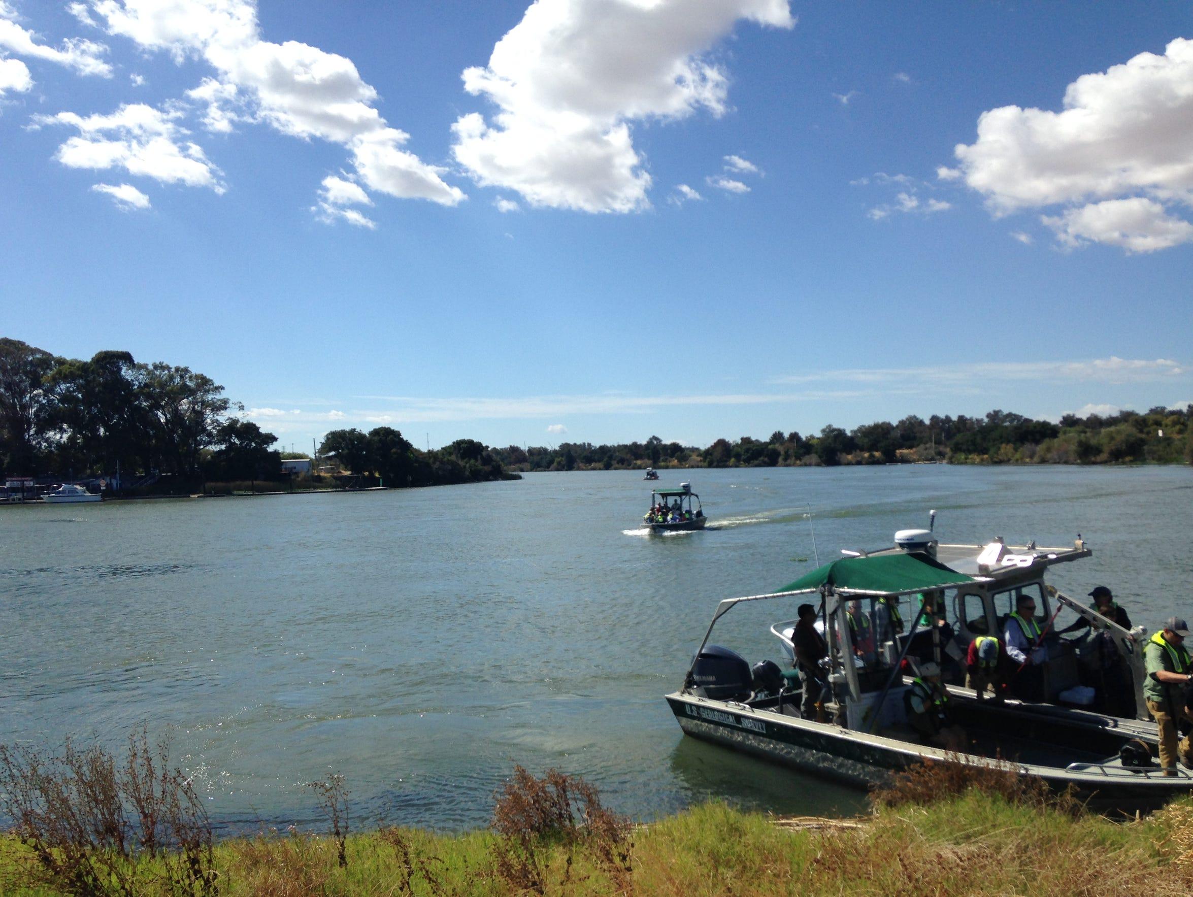 Boaters explore the Sacramento-San Joaquin River Delta,