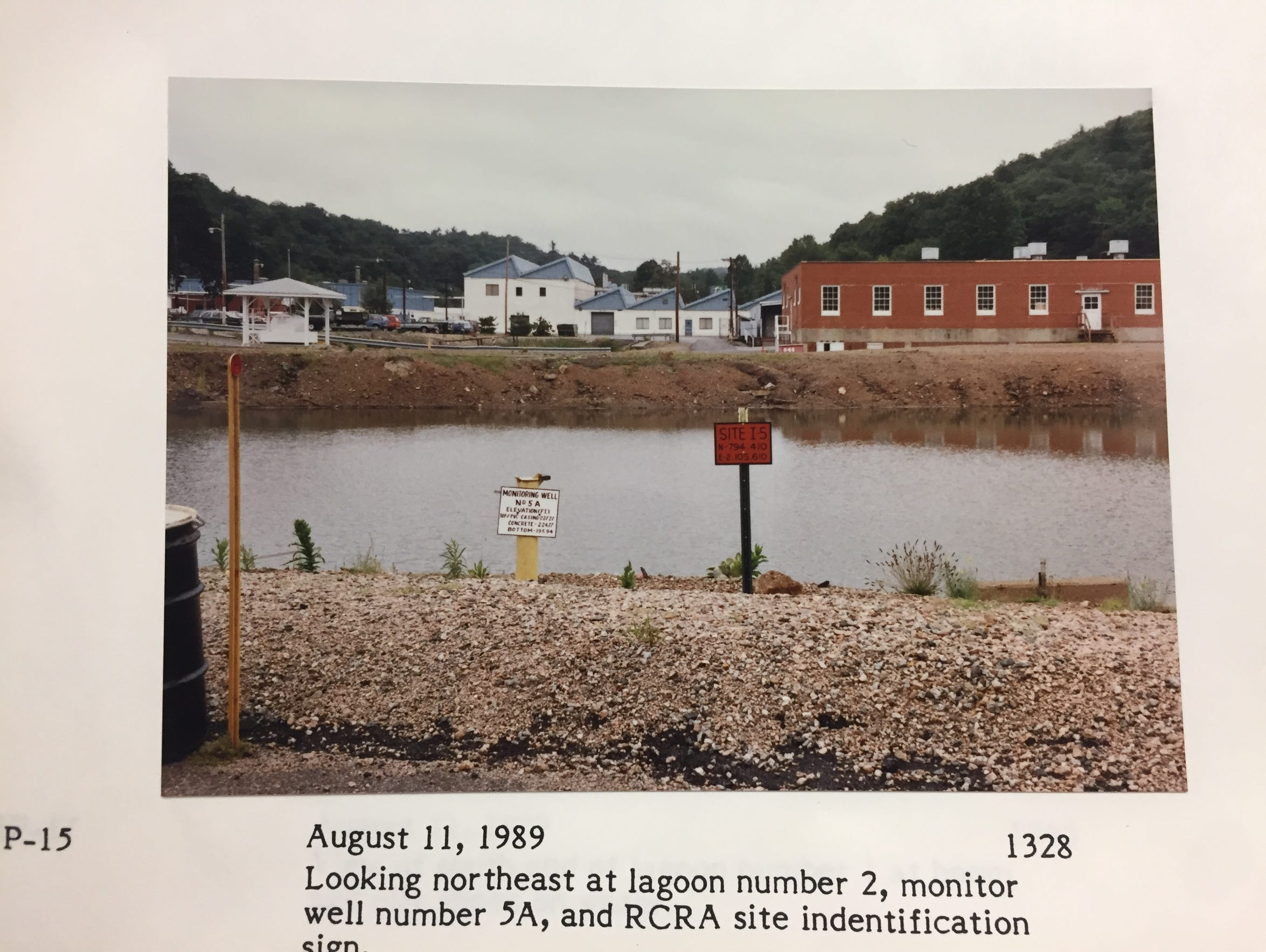 Lagoon 2, seen here in 1989, was one of four on the DuPont site in Pompton Lakes that leaked cancer-causing solvents TCE and PCE into groundwater below.