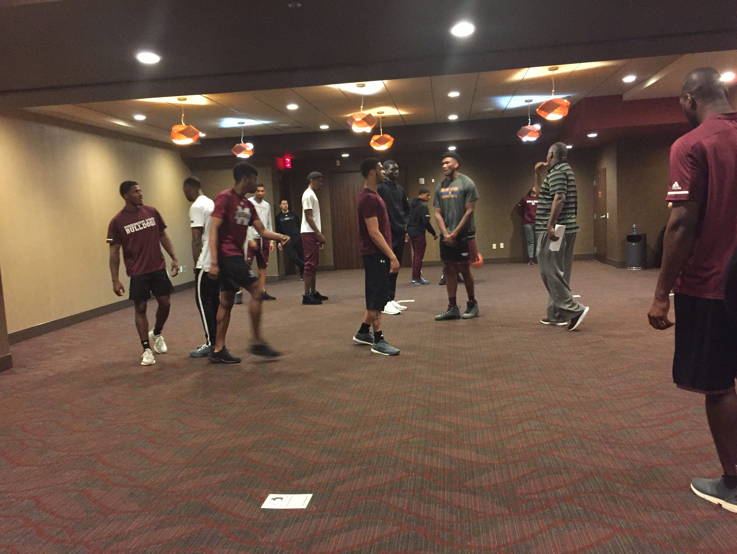 MSU goes through its walk-through.