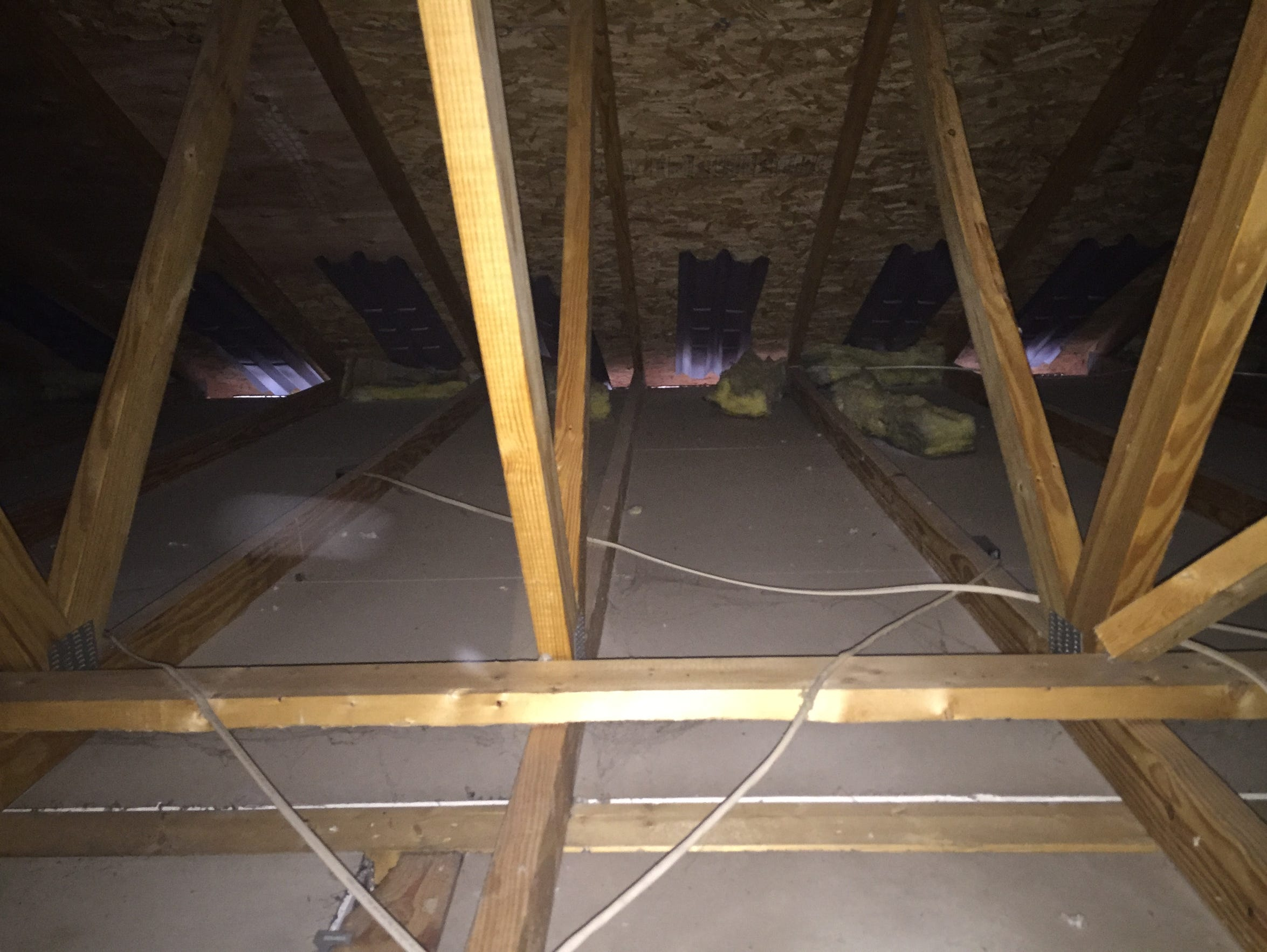 The attic of the Fields' home at 138 Julia Lane in