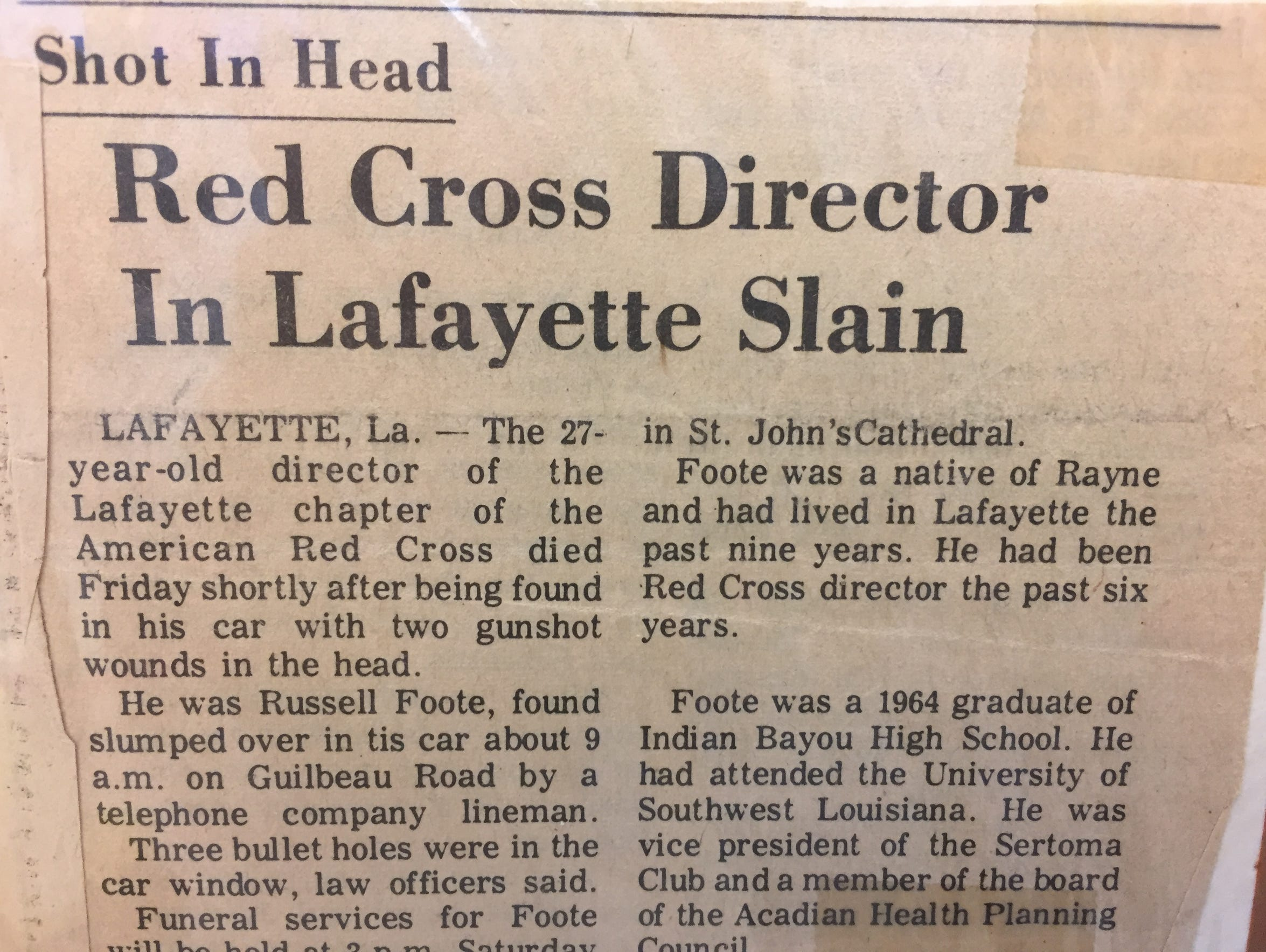 A 1974 newspaper article in The Daily Advertiser details