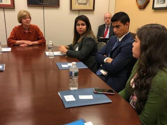 U.S. Sen. Tammy Baldwin met with DACA recipients, from