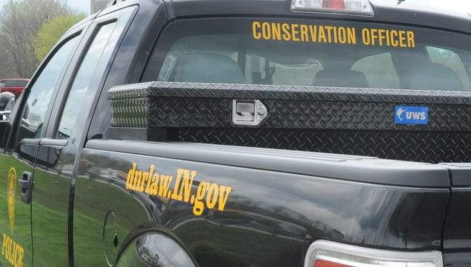 Vehicle belonging to an Indiana Conservation Officer.