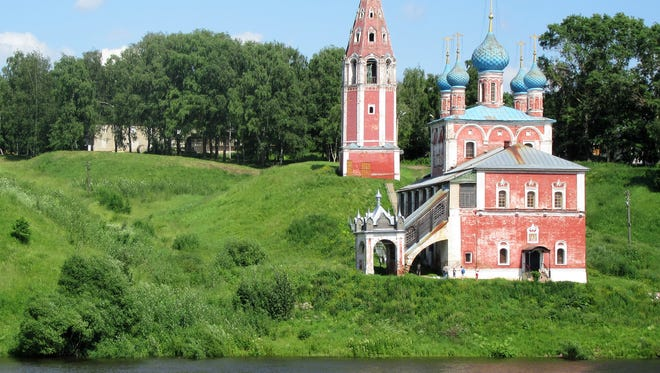 Scenery along the Volga River between Moscow and St. Petersburg.