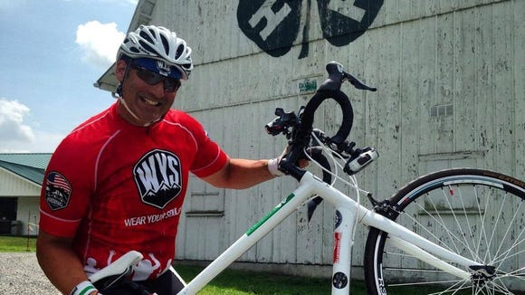 Former Seminole lineman Joe Ostaszewski started his bike ride across America on July 31st.