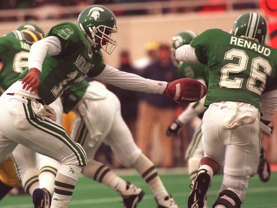 MSU quarterback Tony Banks.
