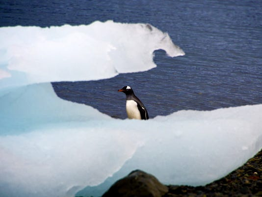 Record warm April ... and most Antarctic ice