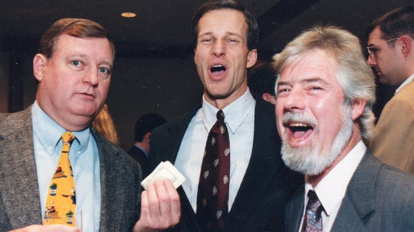 John Thune (center) was a good sport while posing with