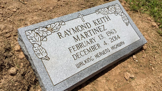 A headstone marking Raymond Keith Martinez's burial site was donated by his friend and local businessman Ron Downing. Martinez was shot and killed by a West Monroe police officer Dec. 4.