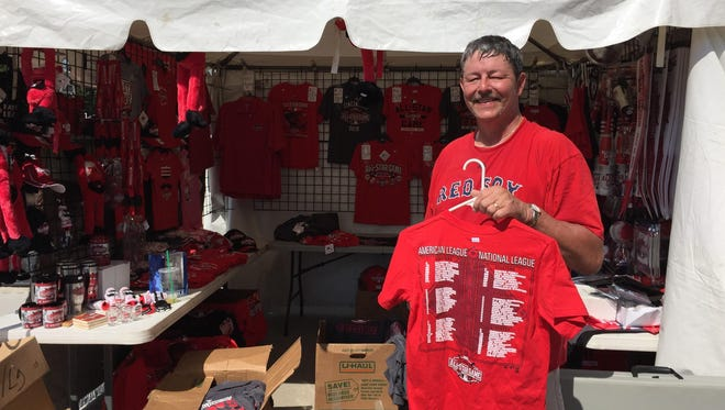 Jeff Porter is the manager at one of the Downtown retail stands. He said he will mark down his merchandise Wednesday morning, but he doesn't know how big the discounts will be.