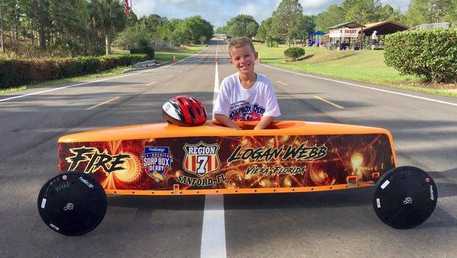 Viera's Logan Webb will compete in the All-American Soap Box Derby World Championship Race in Akron, Ohio, on July 22.