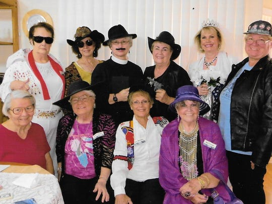 The guests at Marianne Johnstone's June murder mystery