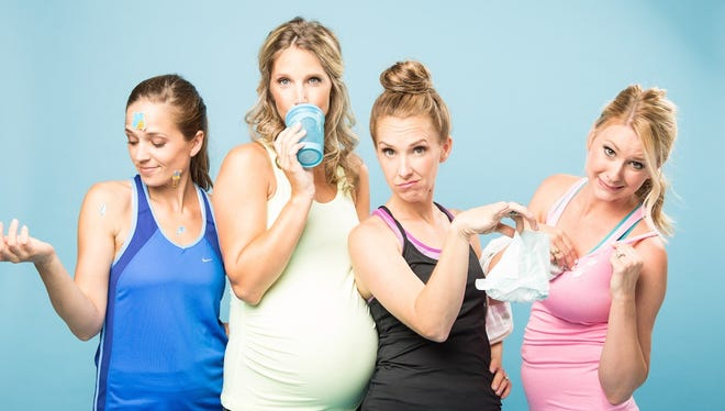 Four Franklin moms comprise the Texting Yoga Pants. They make comedy videos chronicling the woes of young motherhood.