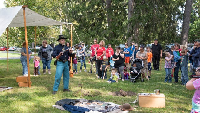 Children get a lesson on life in a Civil War camp during the October 2017 Second Saturdays R 4 Kids event at the Rutherford B. Hayes Presidential Library and Museums. At the next program, set for Jan. 13, kids will learn to make ice cream.