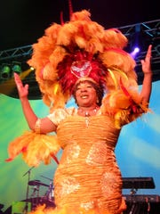 Krewe Harambee Captain XVII Pearson  is presented at
