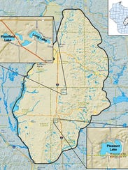The Central Sands region in Wisconsin includes all
