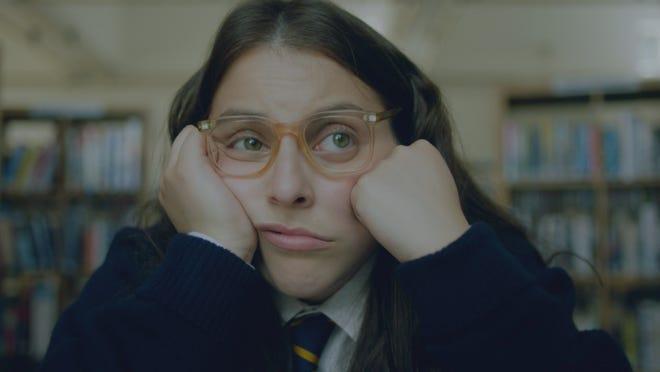 Johanna Morrigan (Beanie Feldstein) is lost in thought.