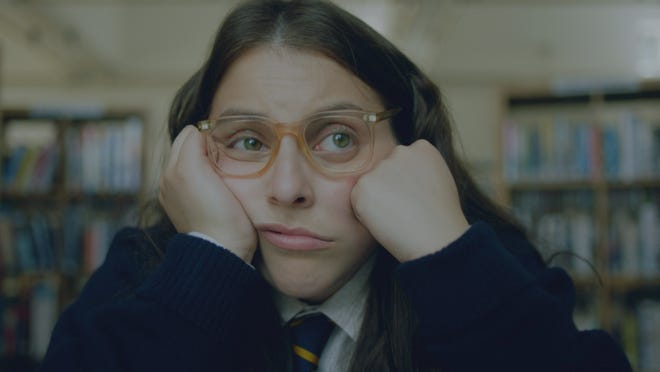 Johanna Morrigan (Beanie Feldstein) is lost in thought.