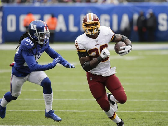 Adrian Peterson rushed for 149 yards and a touchdown for first-place Washington (5-2).