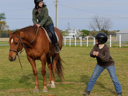"""You need good balance to control your body parts"" so as to not conflict motions while on the horse, Karen Kershaw said."