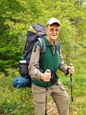 Author and long-distance hiker Ray Anderson, on the trail.