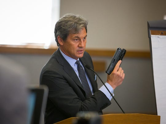 Tai Chan defense attorney John Day makes closing arguments during Chan's trial for murder at Las Cruces District Court, June 6, 2016.