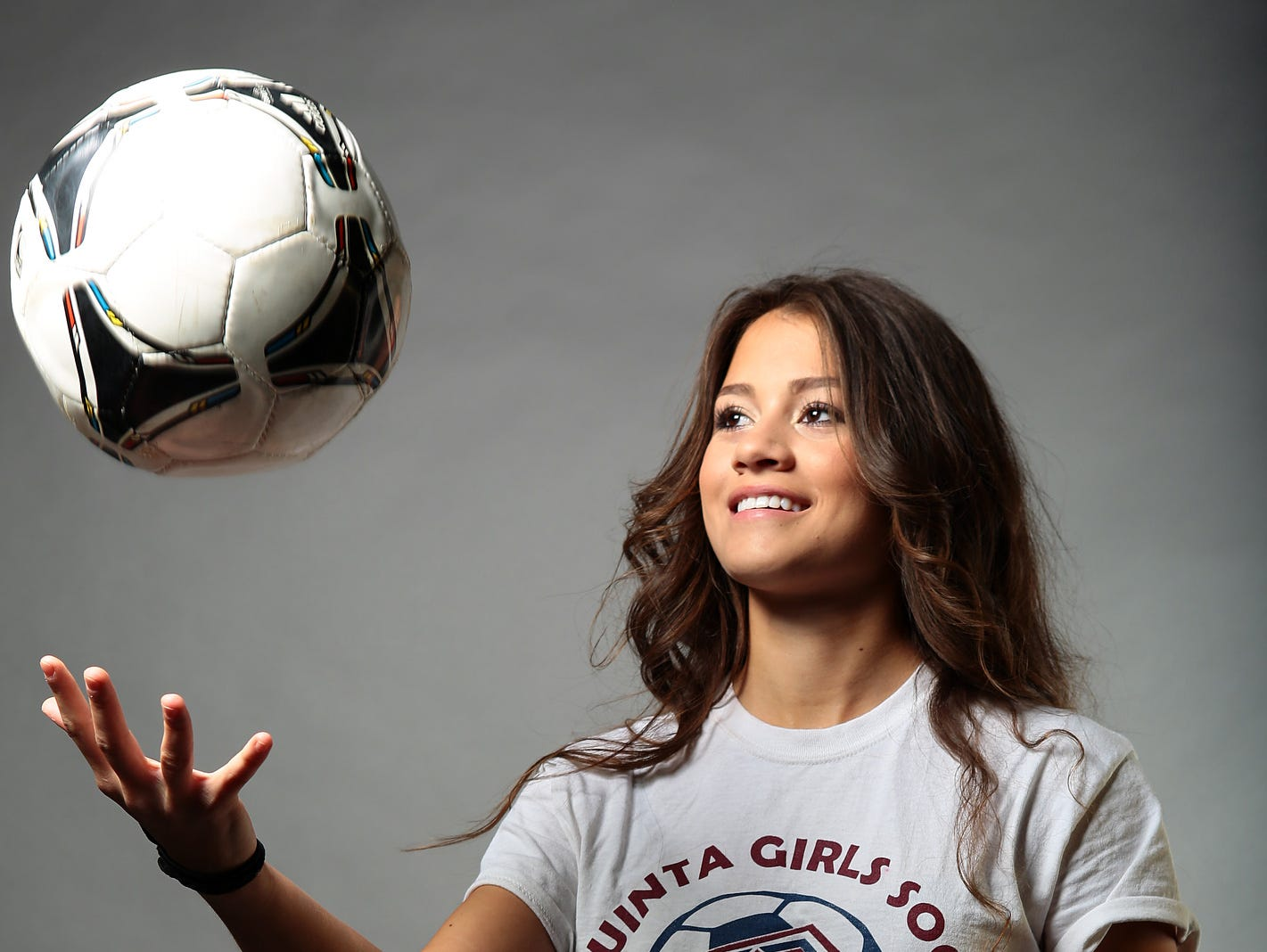 La Quinta senior Aileen Galicia helped the Blackhawks reach the CIF semifinals with the 23 goals she recorded this season. Galicia has signed to play college soccer at New Mexico State. Photographed on Thursday, March 12, 2015.