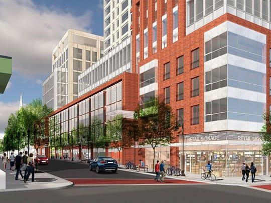 A rendering of the plans for Burlington City Place