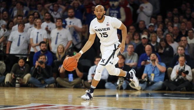 Xavier's Myles Davis handles the ball during the 2016 Big East Tournament at Madison Square Garden in New York City.