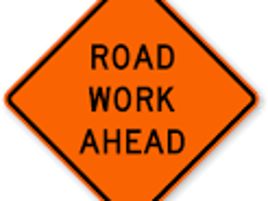 sign road work