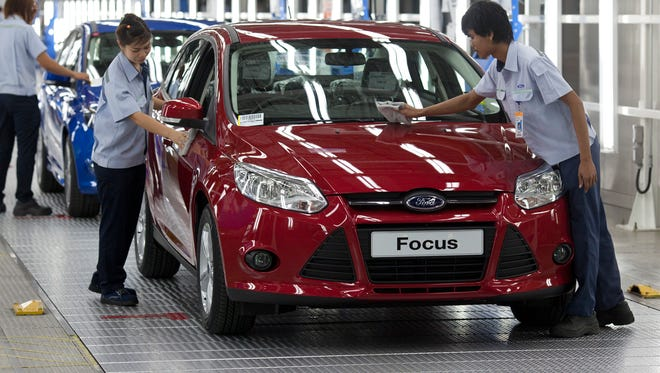 A new Focus comes off the line in Thailand