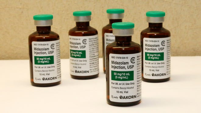 Four states have used midazolam in executions: Arizona, Florida, Ohio and Oklahoma. Also, Alabama, Louisiana and Virginia allow for midazolam.