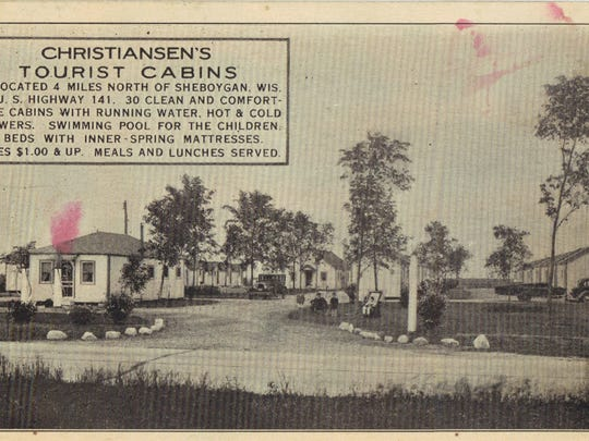Christiansen's Tourist Cabins 4 miles north of Sheboygan on Hwy 141.