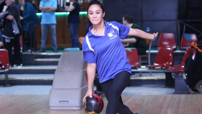 Senior Tiffany Sucero and Holy Angels hold the top spot in The Record girls bowling Preseason Top 5.