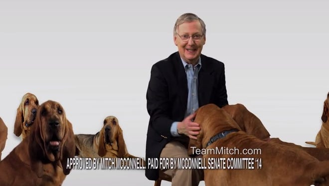 Mitch McConnell brings back the bloodhounds for his latest ad.